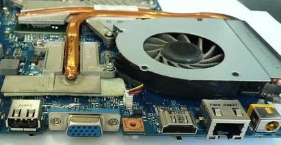ремонт и чистка системы охлаждения ноутбука