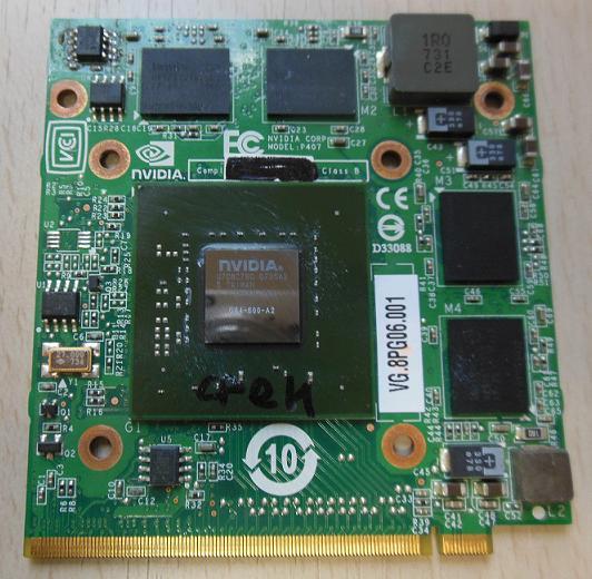 ремонт видеокарты ноутбука MXMII