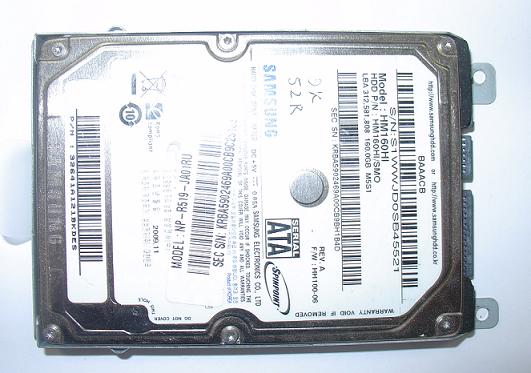 замена жесткого диск ноутбука