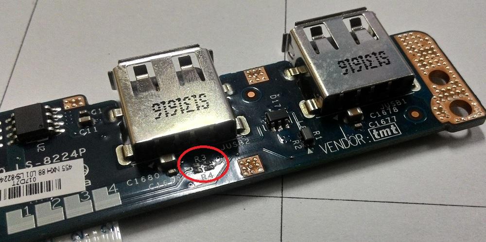 ремонт USB ноутбука Asus K95V