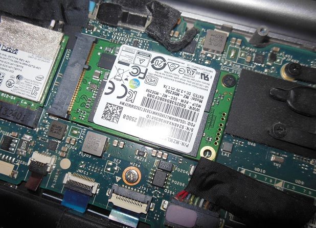 Замена SSD в Dell XPS 12