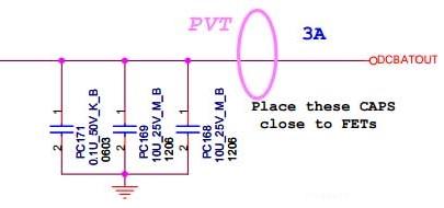 входные конденсаторы цепи питания 1.05В